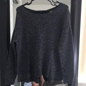 Sweaters - Dark grey thick stretchy sweater